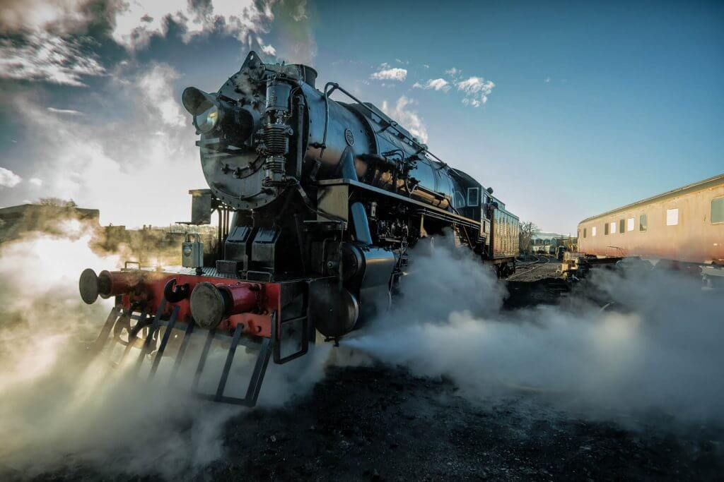 The Polar Express steam train